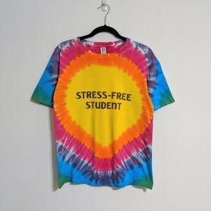 Stress-Free Student Tie Dye T-shirt